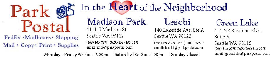 Greeting cards park postal madison park leschi seattle in the heart of the community m4hsunfo Images